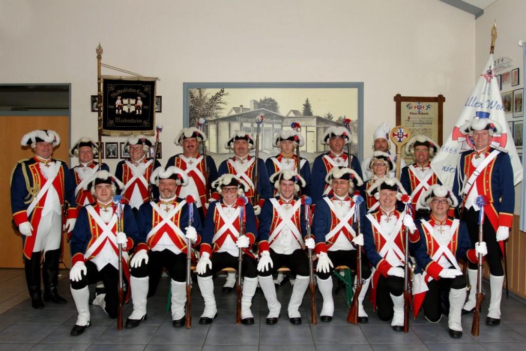 Gruppenbilder und Corpsbild des Stadtsoldaten-Corps 1868 Meckenheim e.V.